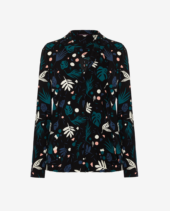 Pyjama jacket Veggie black Darling