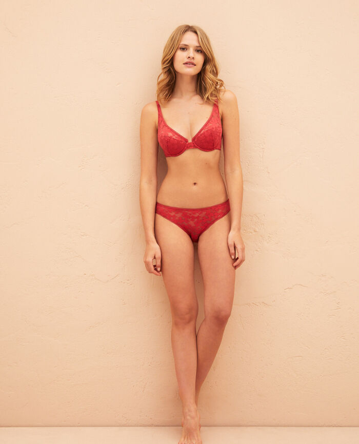 Hipster briefs Peony red Lumiere