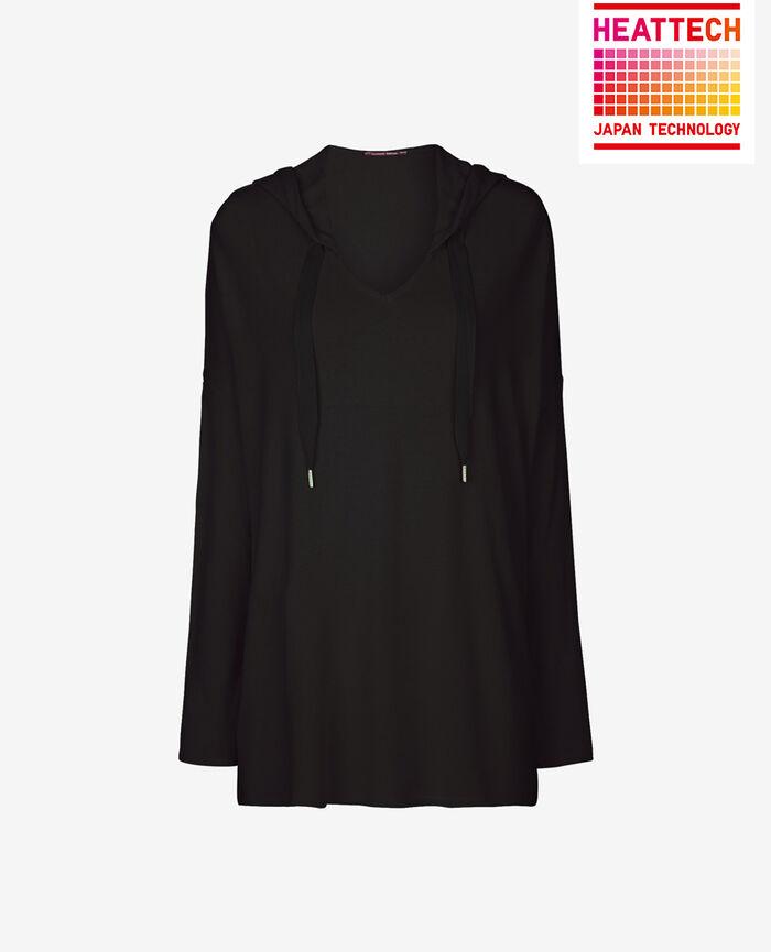 Sweatshirt with hoodie Black Loungewear