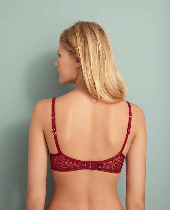 Padded push-up bra Leather red Manhattan