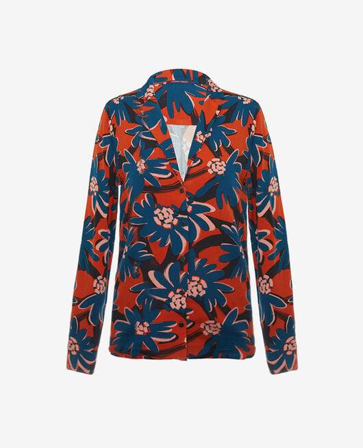 Pyjama jacket Margerite brown Crepuscule