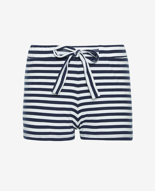 Pyjama shorts Navy blue stripe Echo