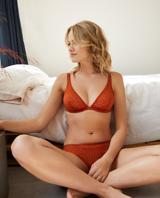 Underwired triangle bra Cognac brown Birdy