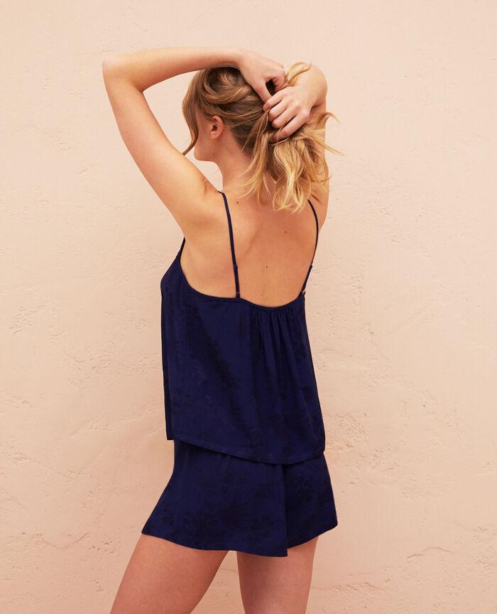 Caraco de pyjama Bleu marine Menara