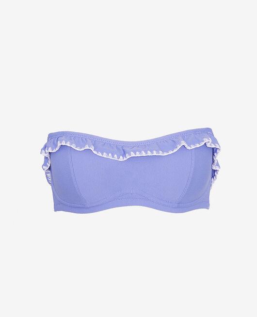 Underwired strapless bikini top Diva blue Froufrou