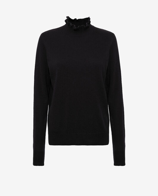 Pull col cheminée Noir Icone
