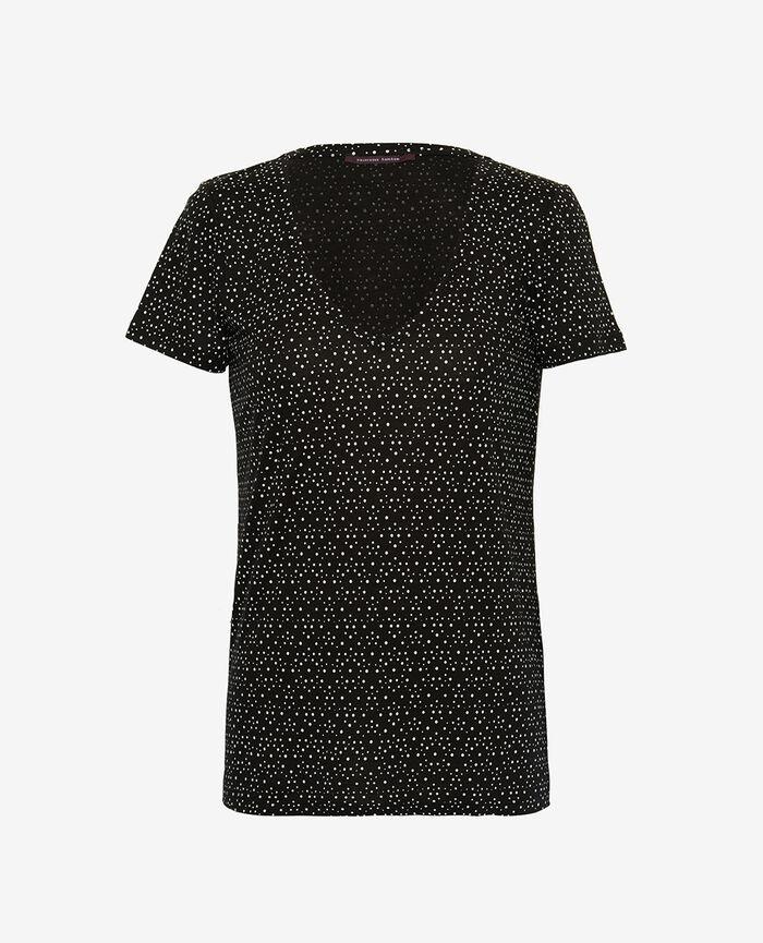 T-shirt manches courtes Chouia noir Latte