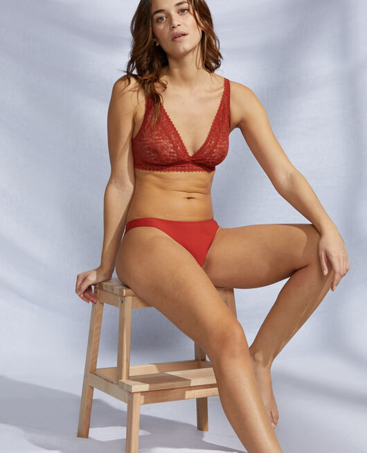 Soft cup bra Terracotta brown Josephine