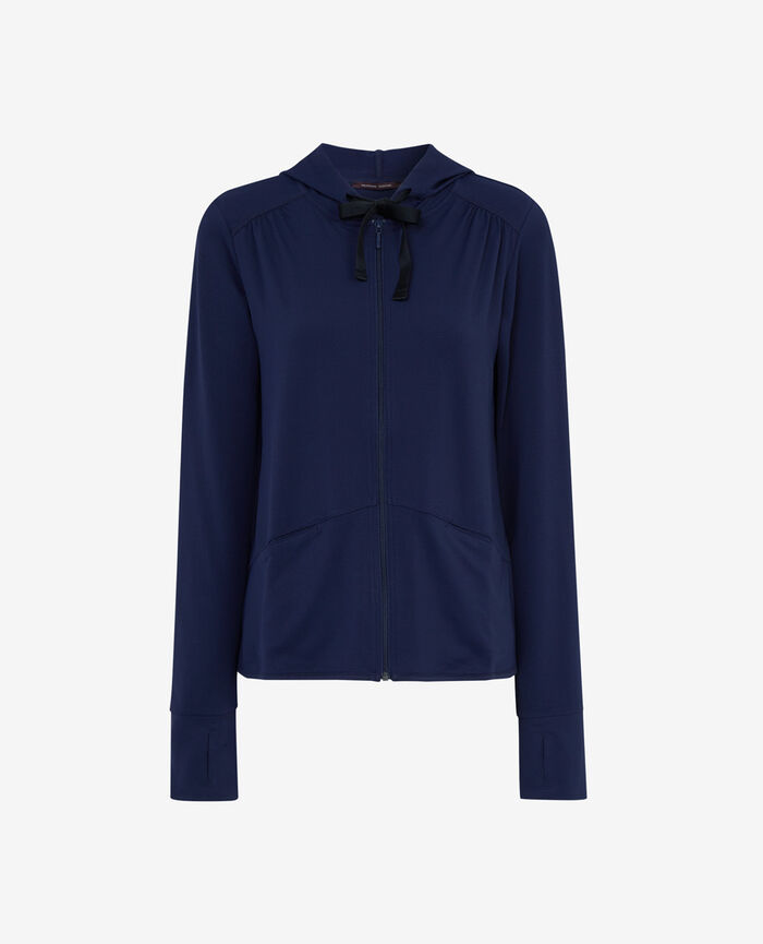 Veste à capuche en jersey Bleu marine Air loungewear