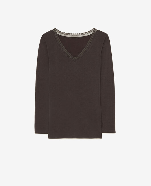 T-shirt manches longues Gris fumé Heattech® extra warm
