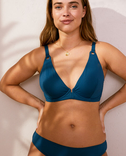 Underwired triangle bikini top Sombrero blue Impala