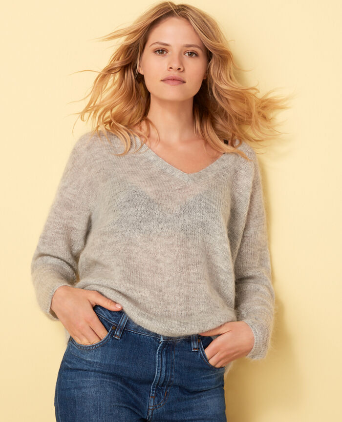 Pull Gris clair Delicate