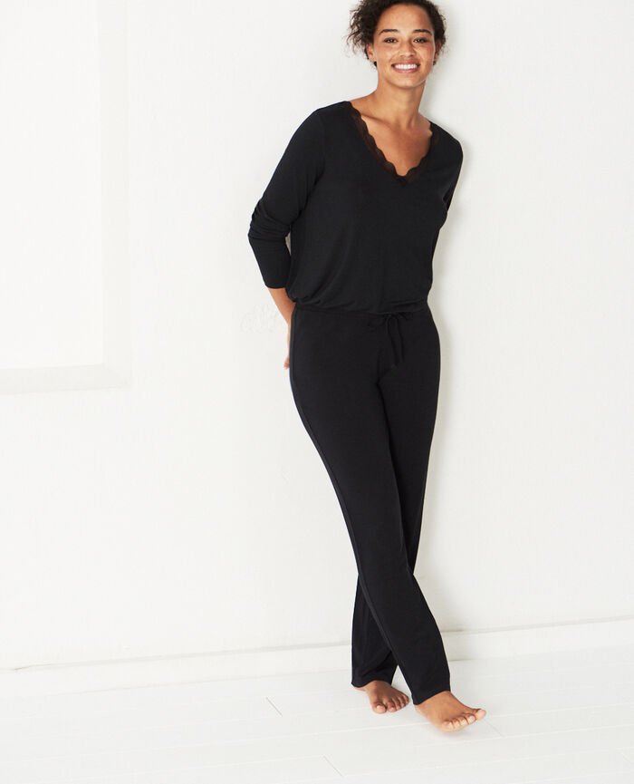 Pantalon Noir Douceur