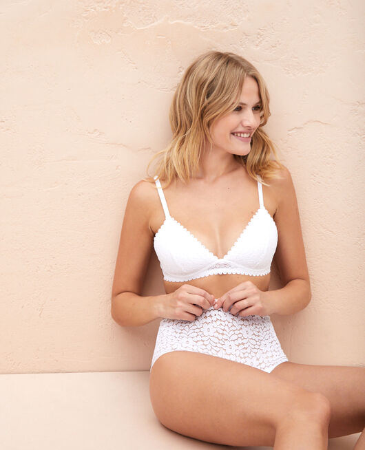 Triangle padde bra White Monica