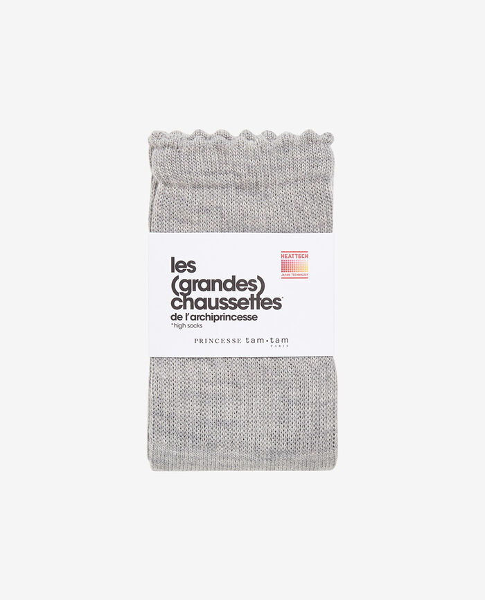 Leg warmers Flecked grey Infinity