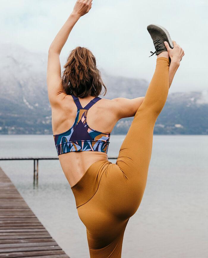 Legging de sport Brun cocktail Yoga se