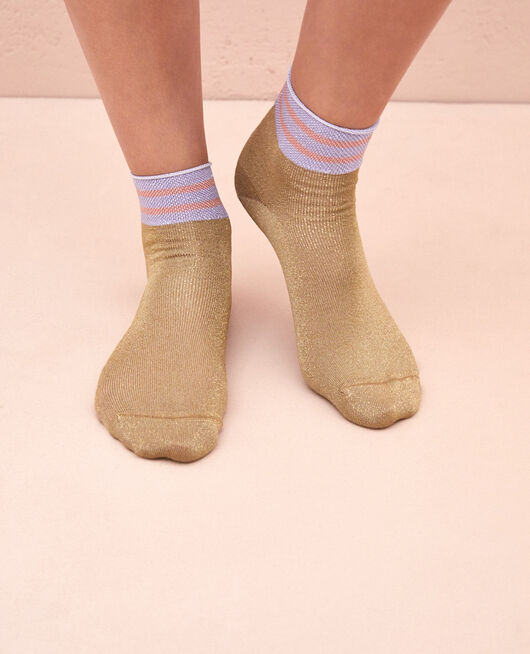 Socks Gold lurex Calzino