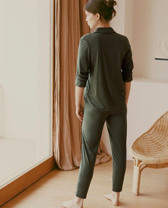 Veste de pyjama Vert mousse Paresse