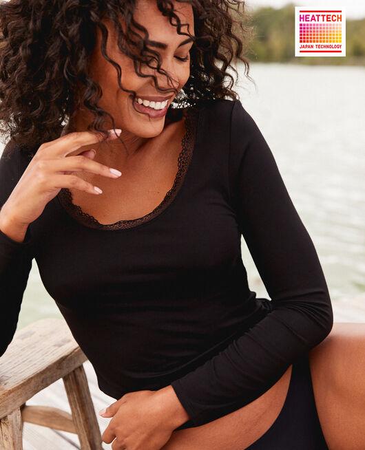 Long-sleeved t-shirt Black Heattech© extra warm
