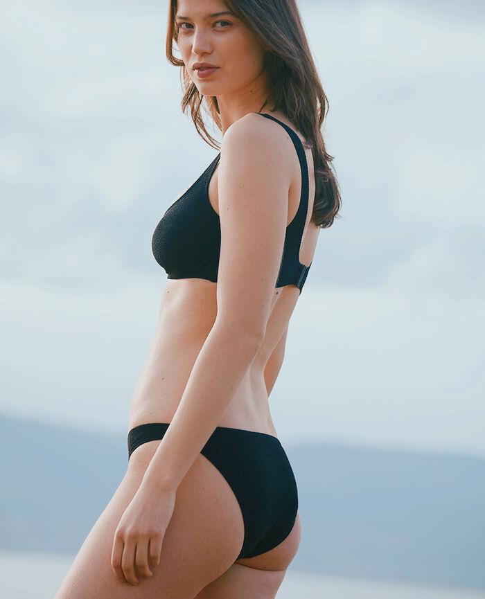 High-cut bikini briefs Black Divine