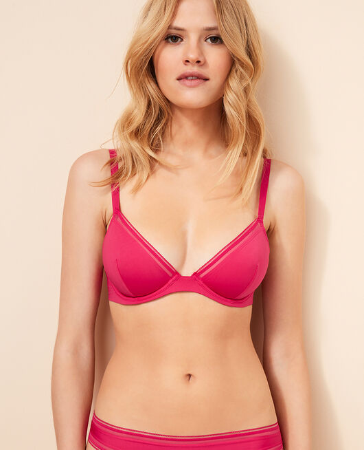 Soutien-gorge triangle mini-wire Rose bling-bling Make up