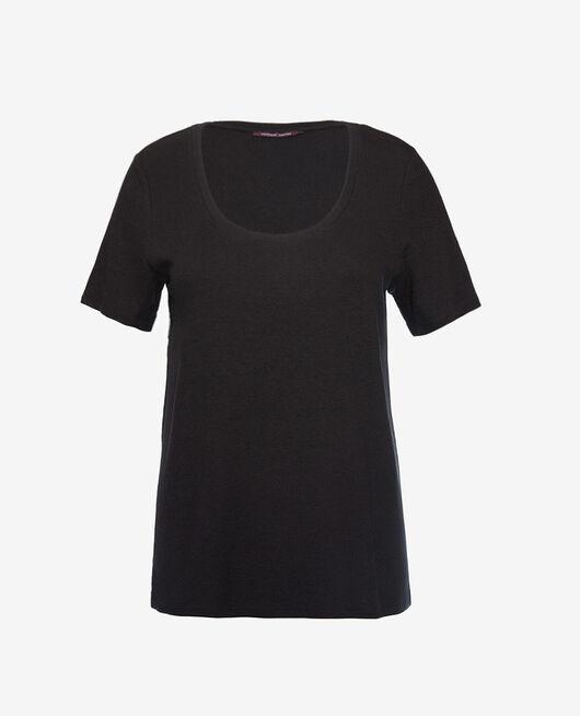 T-shirt manches courtes Noir Dimanche