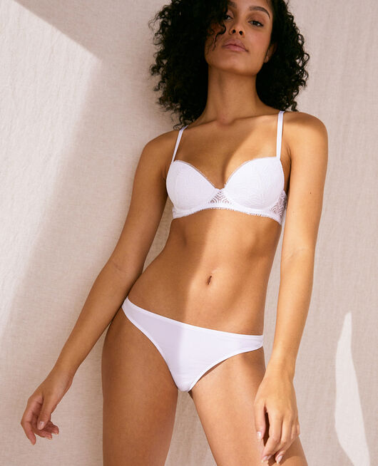 Padded push-up bra White Candeur