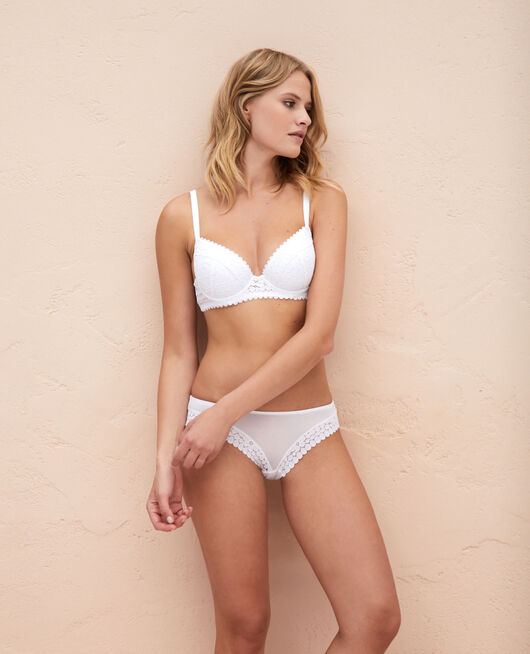 Padded push-up bra White Monica