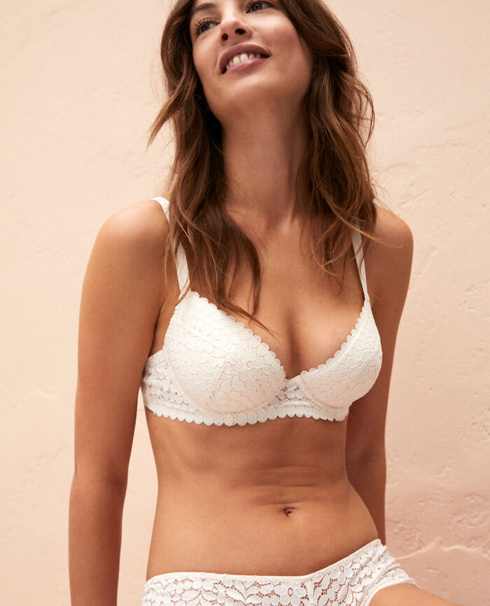d4f868aa5c753 Padded push-up bra Rose white - Monica