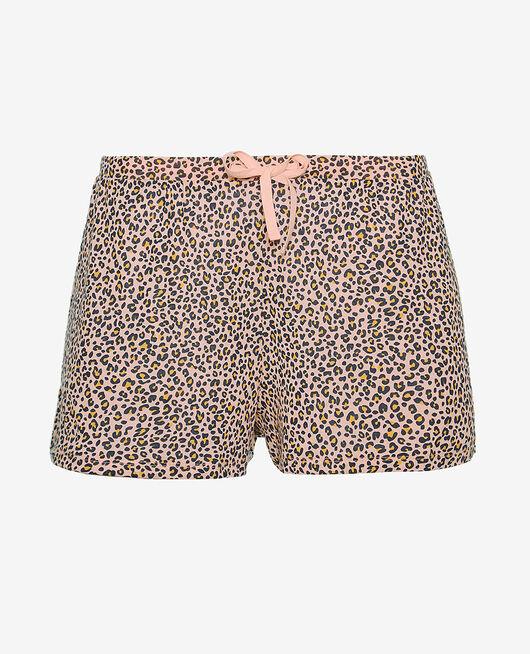 Short de pyjama Léo rose Latte print
