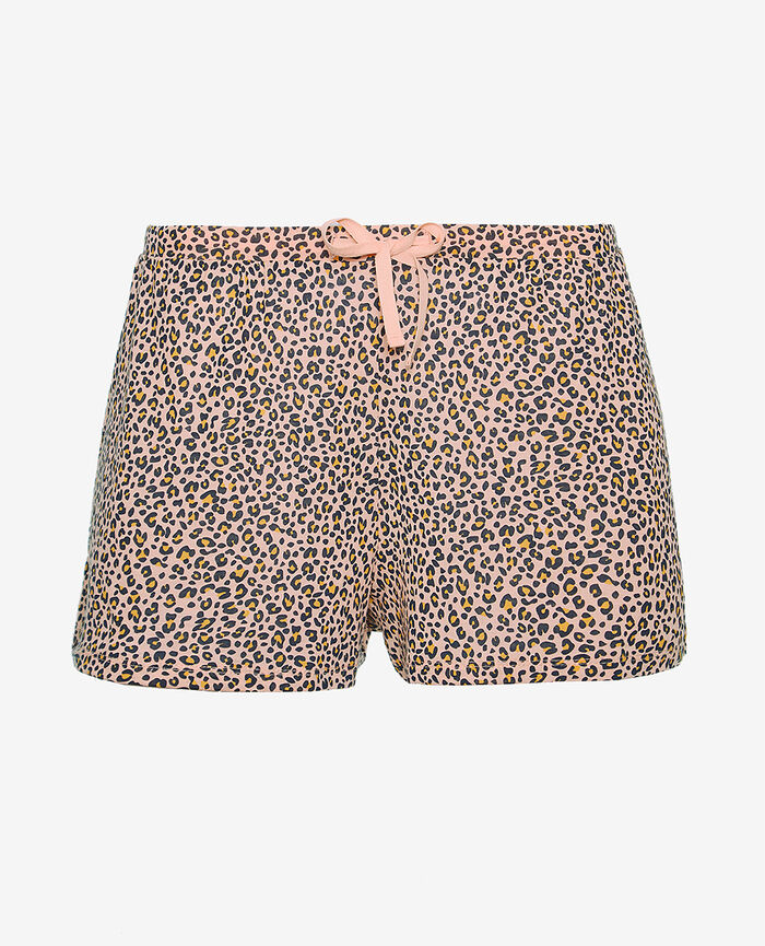 Pyjama shorts Leo rose Latte print