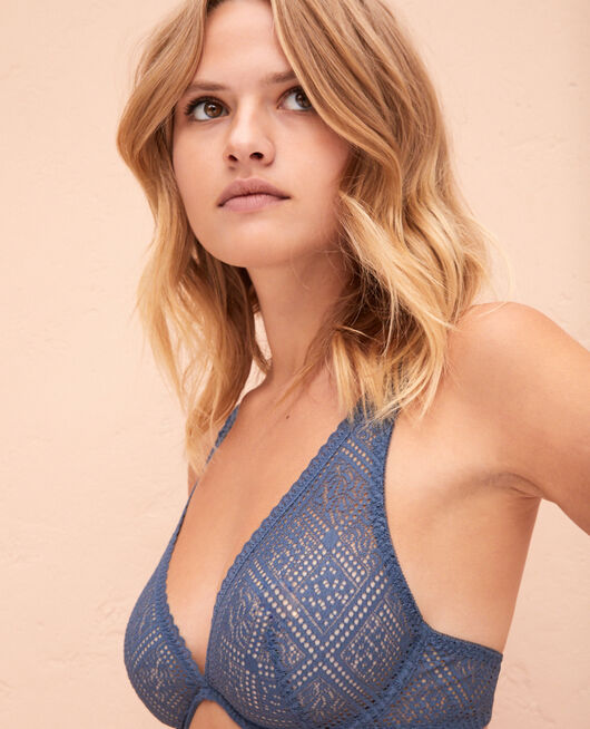 Underwired triangle bra Stormy blue Sonate