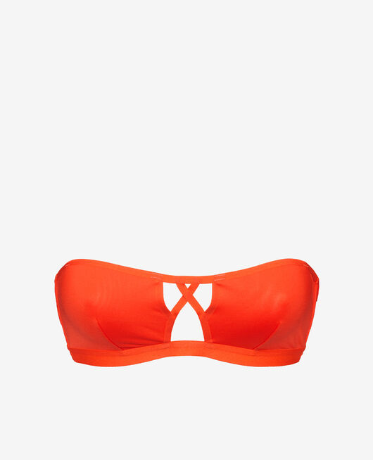 Strapless bikini top Blood orange Tiwizi