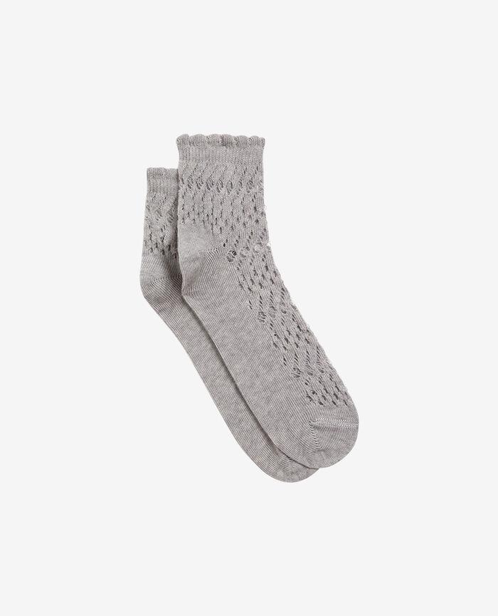 Socks Flecked grey Kawai