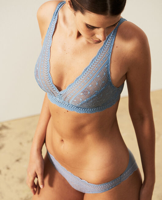 Soft cup bra Ash blue Duo