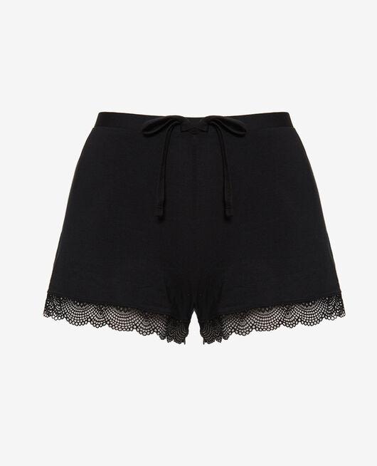 Short de pyjama Noir Reverie