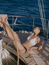 Maillot de bain triangle sans armatures Blanc Farah - le feel good