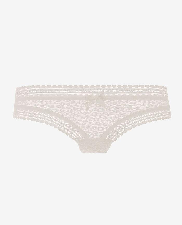 Culotte taille basse Blanc rosé Belle