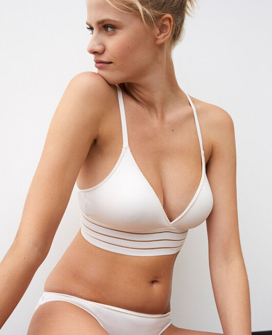 Soft cup bra Rose white Air lingerie