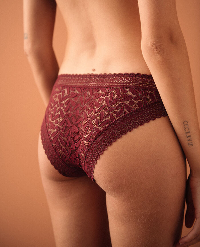 Culotte taille basse Rouge cassis Evidence