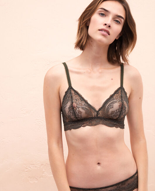 Soft cup bra Moss green Esquisse