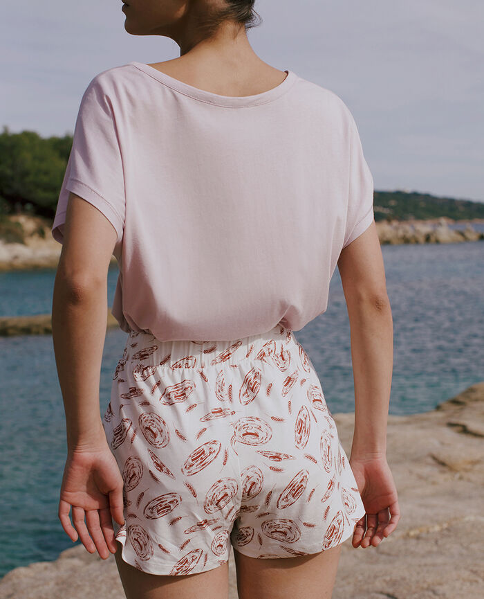 Pyjama shorts Ivory boater Tamtam shaker