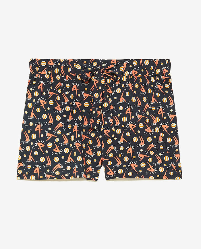 Short de pyjama Plage bleu marine Tam tam shaker