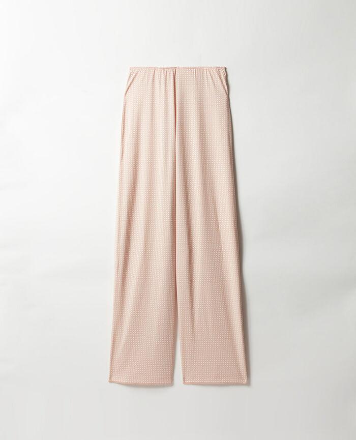 Pantalon Canage beige poudre Bonne nuit print