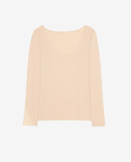 T-shirt manches longues Beige poudre Inner heattech