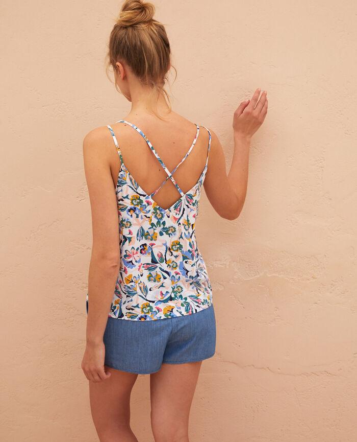T-shirt sans manches Kif kif bleu Gazelle