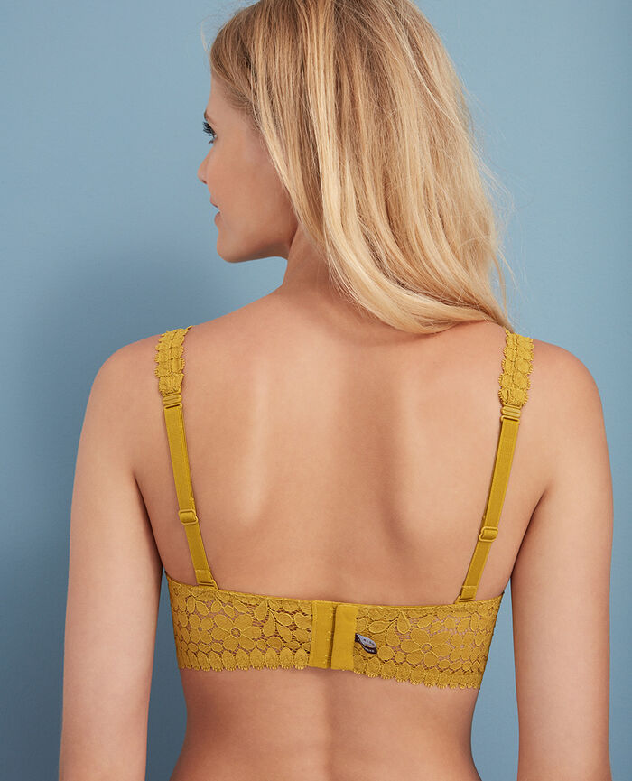 Backless triangle bra multi-position Pickles yellow Monica