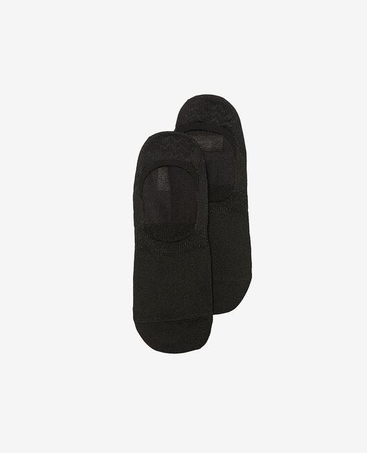 Chaussettes invisibles Noir Glitter