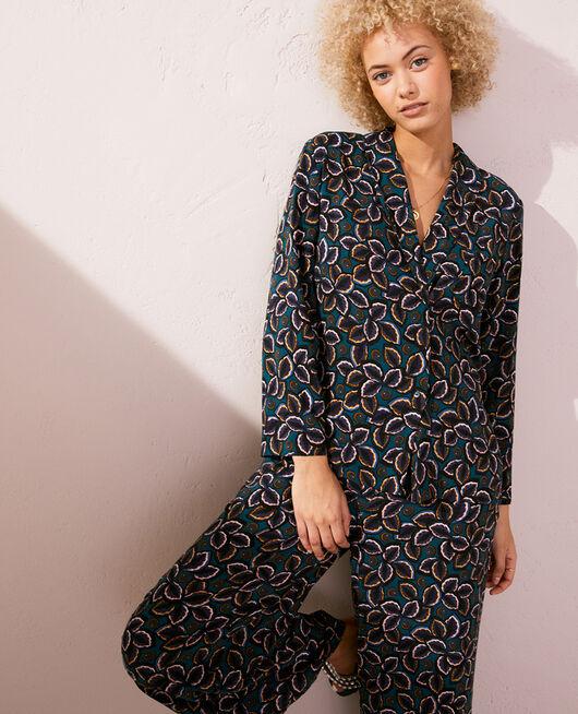 Pyjama jacket Blue wax Pyjmania