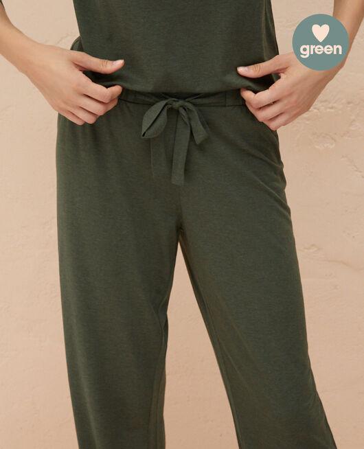 Trousers Moss green Latte organic